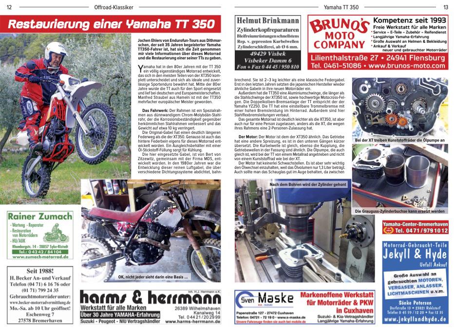 Restaurierung einer Yamaha TT 350