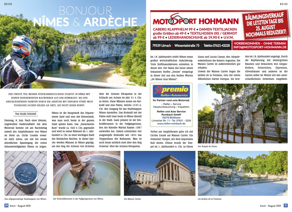 Bonjour Nîmes und Ardèche